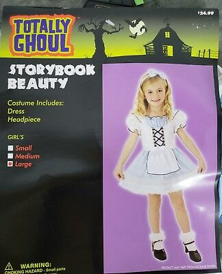 STORYBOOK BEAUTY ALICE IN WONDERLAND GIRL'S COSTUME SIZE L ()
