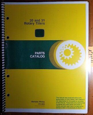 John Deere 30 31 Rotary Tiller Parts Catalog Manual Pc-953 1079