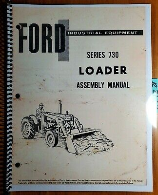 Ford 730 Loader For 2100 2120 2130 3100 3400 4120 4130 Tractor Assembly Manual