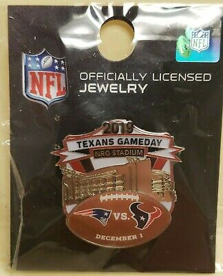 2019 New England Patriots VS Houston Texans 12/1/19 Game Day Pin TEXANS GAMEDAY