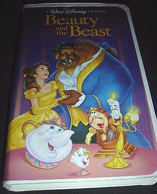 Beauty and the Beast Walt Disney Black Diamond Classic VHS 1992