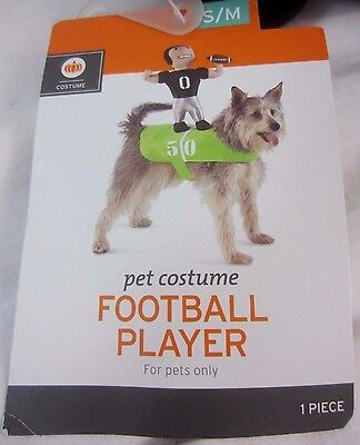 Halloween Dog Games (Football Player Dog Pet Halloween Game Day Costume Size S/M (up to 50 lbs) -)