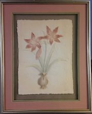 FIGI Graphics Lily and Bird of Paradise 3-D Hand-cast Paper Wall Art Signed Webb
