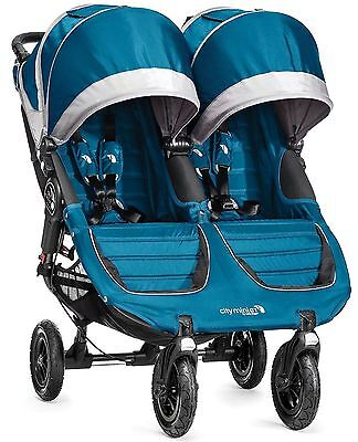 Baby Jogger City Mini GT Double Twin All Terrain Stroller Teal Gray NEW 2016