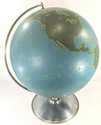 "Huge Vintage A.J. Nystrom Aviation Military School 21"" World Globe Mid Century"