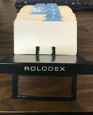 Vintage Rolodex V-glide Gl-24 W 375 4x2-14 Index Cards Dividers