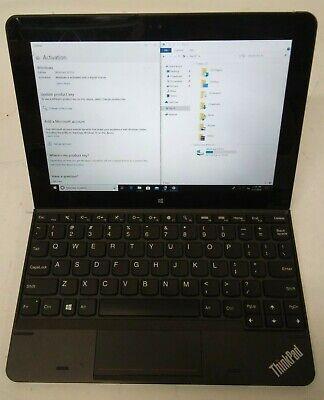 Lenovo ThinkPad 10 20C1 Tablet 1.60GHz Atom Z3795 4GB RAM 125GB SSD w Keyboard