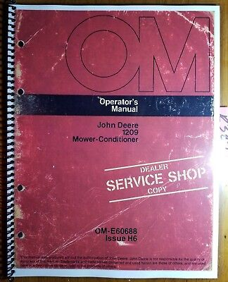 John Deere 1209 Mower-conditioner Sn 335001-425000 Owner Operator Manual H6 76