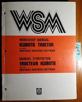 Kubota B5100 B6100 B7100 Tractor Workshop Manual 07909-70010-8 684