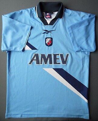 3/5 FC Utrecht 1999~2000 ORIGINAL SOCCER AWAY Football JERSEY Shirt REEBOK image