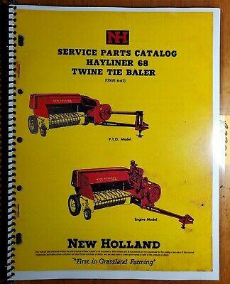 New Holland 68 Hayliner Twine Tie Baler Service Parts Catalog Manual 5006810 62