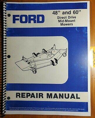 Ford 914 48 60 Mower 1988- For 1020 1120 1220 1320 1520 Tractor Repair Manual