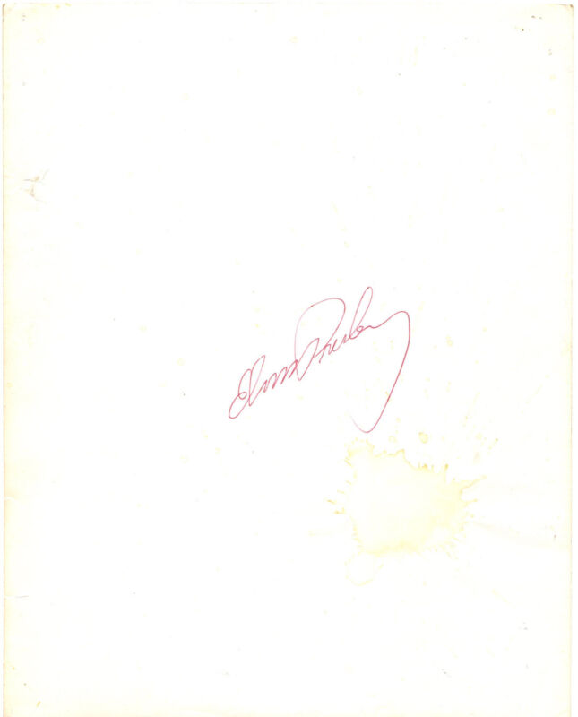Elvis Presley Signed 8x10 Photo JSA LOA King Of Rock & Roll Musician RARE !