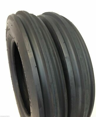 Two 4.00-15 Premium Front Tractor Tires Tubeless Lrb F2 400x15 400-15 Three Rib