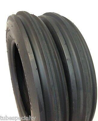Two New 5.00-15 5.00x15 3 Rib F2 Tractor Farm 2 Tires