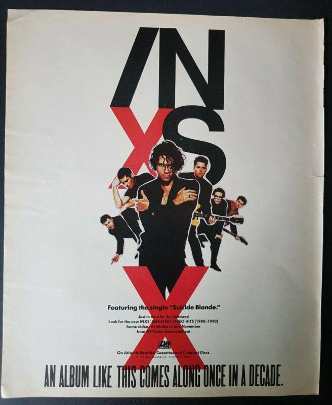 INXS X Original Print Ad 1990