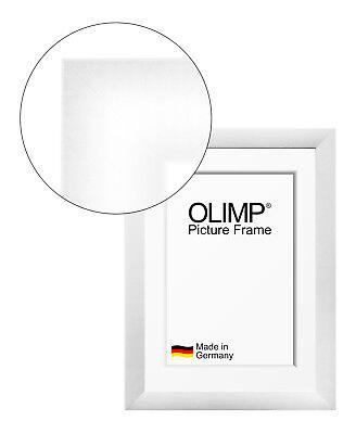 Bilderrahmen Olimp weiß matt mit entspiegeltem Acrylglas 10x20-150x100 cm