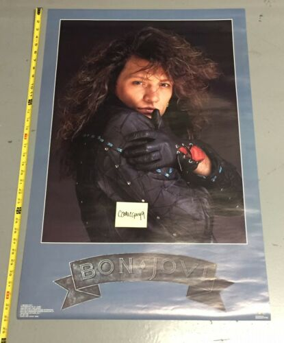 Vintage 1988 Jon Bon Jovi Poster (22 x 34 inches) AUTHENTIC AND REAL