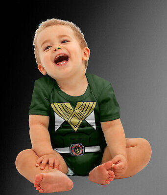 Baby Green Ranger Superhero Halloween Costume Cosplay Bodysuit  - Green Ranger Costume Halloween