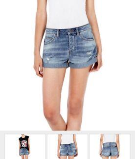 Sass & Bide denim shorts size 25, BNWT