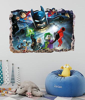 Lego Batman Smashed 3D Wall Decal Kids Sticker Mural Art Decor Vinyl DA120](Lego Batman Decorations)