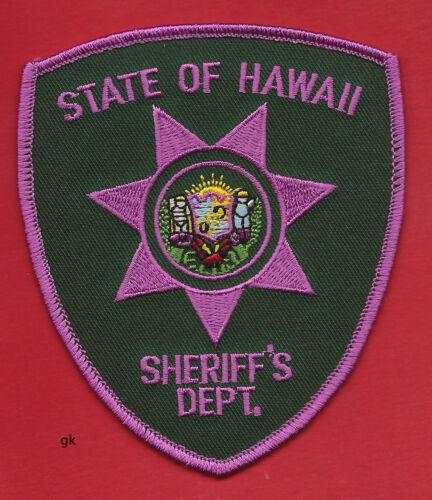 HAWAII SHERIFF DEPT. PINK CANCER AWARENESS SHOULDER PATCH