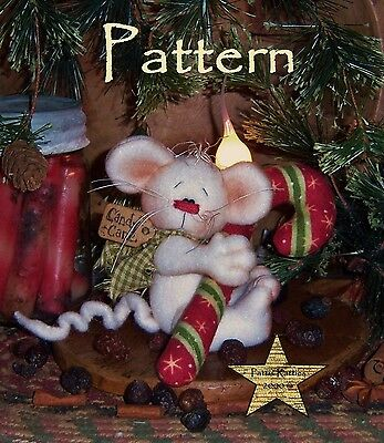 Primitive Patti's Ratties Christmas Mouse Doll Candy Ornie Paper Pattern #385