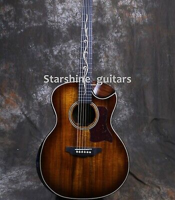 41In Fishman EQ Laminated Walnut Back&Side Electric Acoustic Guitar