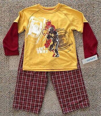 Boys Size 4 Carter's Lazy Day 4 Kids PJs Pajama Set Lounge 37-39 Lbs