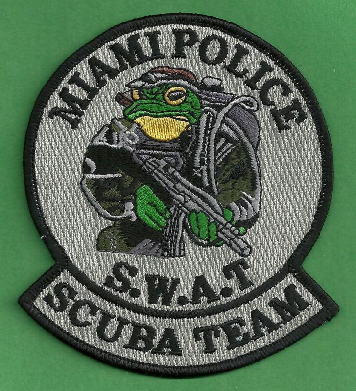 MIAMI FLORIDA POLICE SWAT DIVE TEAM SHOULDER PATCH