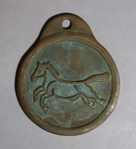 A Very Fine and Rare Old Korean Bronze One Horse Warrant (銅馬牌)