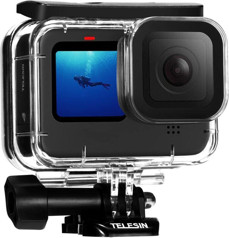 TELESIN 50M Waterproof Case Tempered Glass Lens Diving Housing For GoPro 10 9
