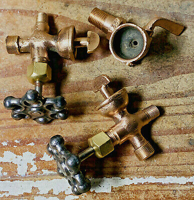 3 Vintage Brass Primer Cup Lot Hit Miss Engine Early Industrial Engine Parts