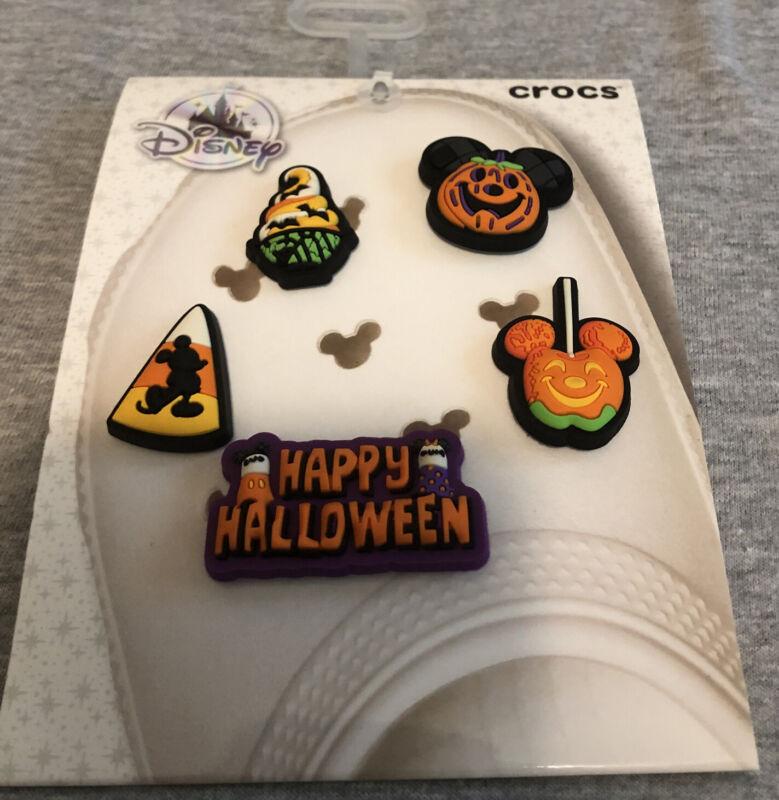 Disney Parks Halloween Crocs Jibbitz Charms Pack Of 5 On Card