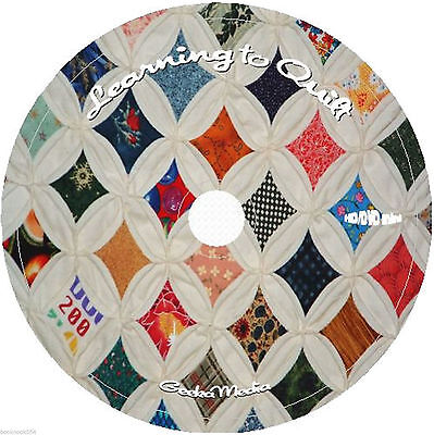 Learning to Quilt for the Beginner Books & Video Tutorials on DVD easy at home