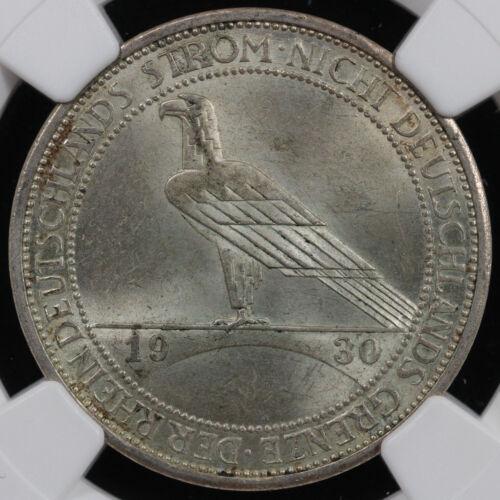 1930-F Germany 3 Mark Rhineland Liberation NGC MS 63