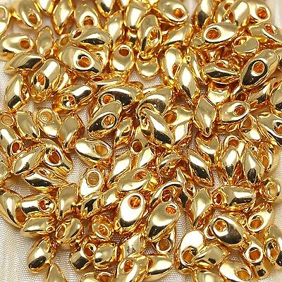Pick Your Color Precious Metal Plated Long Magatama Seed Beads - 10grams