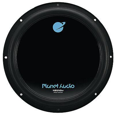 - Planet Audio 12 Inch 1800W Car Audio Power Single Subwoofer DVC 4 Ohm | AC12D
