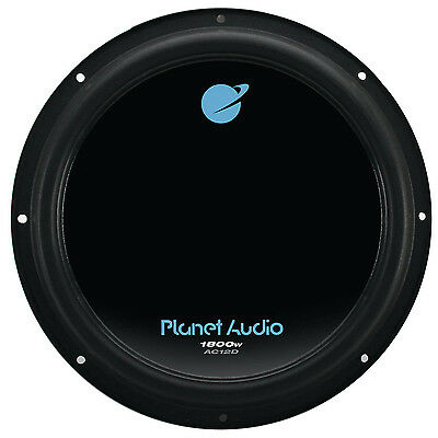 Planet Audio AC12D 1800 Watt, 12 Inch, Dual 4 Ohm Voice Coil