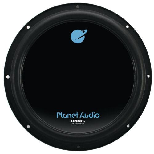 Planet Audio AC12D 12 Inch 1800 Watts 4 Ohm Dual Voice Coil Car Audio Subwoofer