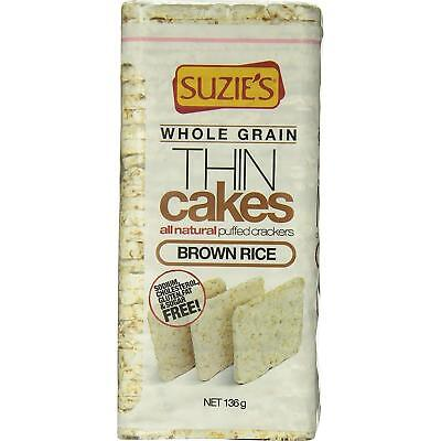 (Suzie's Whole Grain Thin Puffed Brown Rice Cakes, Case of 12, 4.9 oz.)