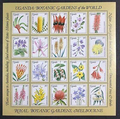 Uganda - 1991 - Botanical Gardens of the World - Mini Sheet - Unmounted Mint.