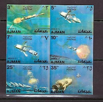 Ajman, 1972 , SPACE. Apollo 11, 3-D, Hologram ,MNH