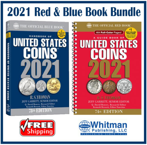 New 2021 Official Red Book Price Guide United States US Coin + Blue Book New Lot