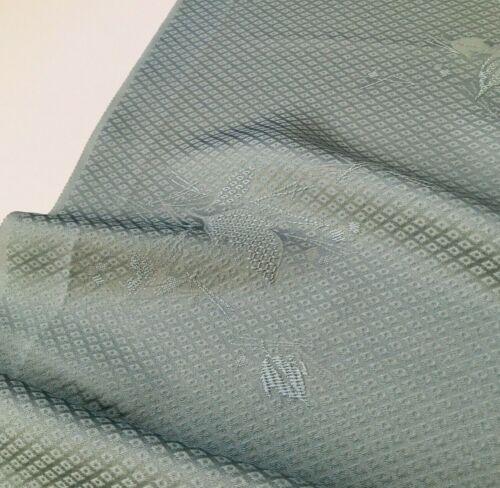 Monaco #A 14x41 Vintage Silk Japanese Kimono Fabric Panel High Quality SCB22
