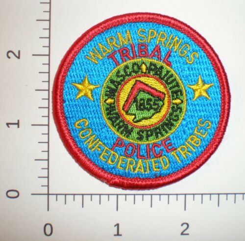 OR Oregon WASCO PAIUTES Confederated tribes WARM SPRINGS Tribal police hat patch