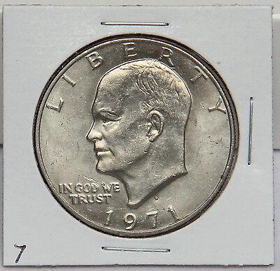 - 1971 D Eisenhower Dollar Coin - Ike Denver