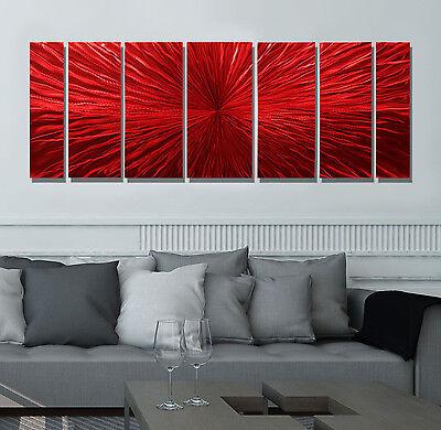 Statements2000 Modern Abstract 3D Metal Wall Art Painting by Jon Allen Intensity