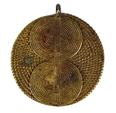 Art African African Pendant Ethnic Jewel - Pendant Bronze Baoulé - 5,2 Cm