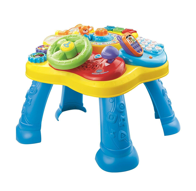 VTech Abenteuer Spieltisch - Babyspielzeug Motorik ab 1Jahr,Lernspieltisch,Sound